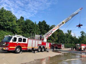Fire Department Ladder Truck w/ Basket Rescue